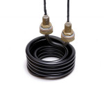 Double coil with brass ferrules and glass fibre leads @