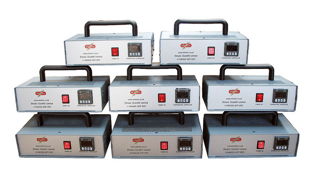 Single desk mounted control boxes with Carry Handle