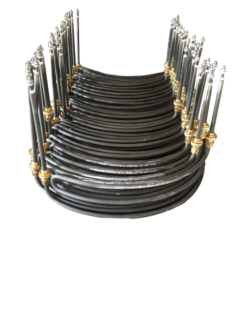 Tubular Rod Shaped Heater with Bass Ferrules